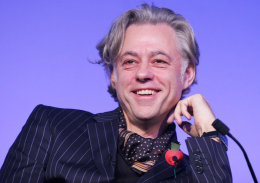 This image is of Bob Geldof a speaker who may be booked through Parliament Speakers for public speaking engagements