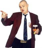 This image is of Al Murray a speaker who may be booked through Parliament Speakers for public speaking engagements